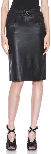 Jonathan Simkhai Leather Pencil Skirt - Lyst