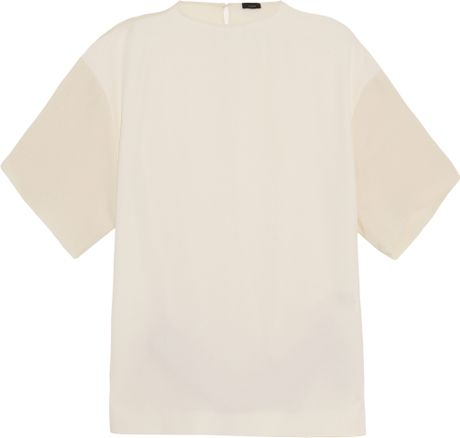 Joseph Matt Silk Top in White (ivory) - Lyst