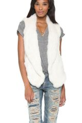 June Knit Fur Vest - Lyst