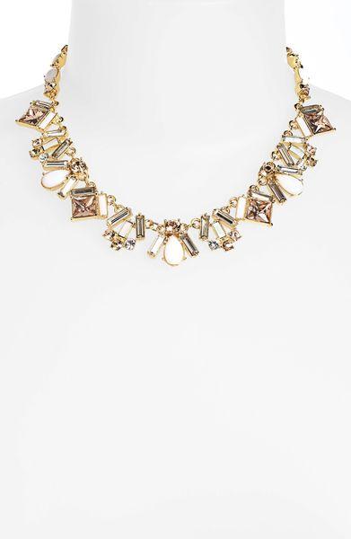 kate spade baguette bridal collar necklace in pink blush