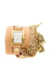 La Mer Collections Birdcage Charm Wrap Watch - Lyst