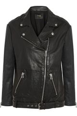 Maje Diferenti Leather Jacket - Lyst