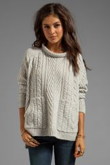 Marc By Marc Jacobs Connolly Sweater in Light Gray - Lyst