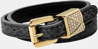 Michael by Michael Kors Michael Kors Glam Rock Leather Wrap Bracelet - Lyst