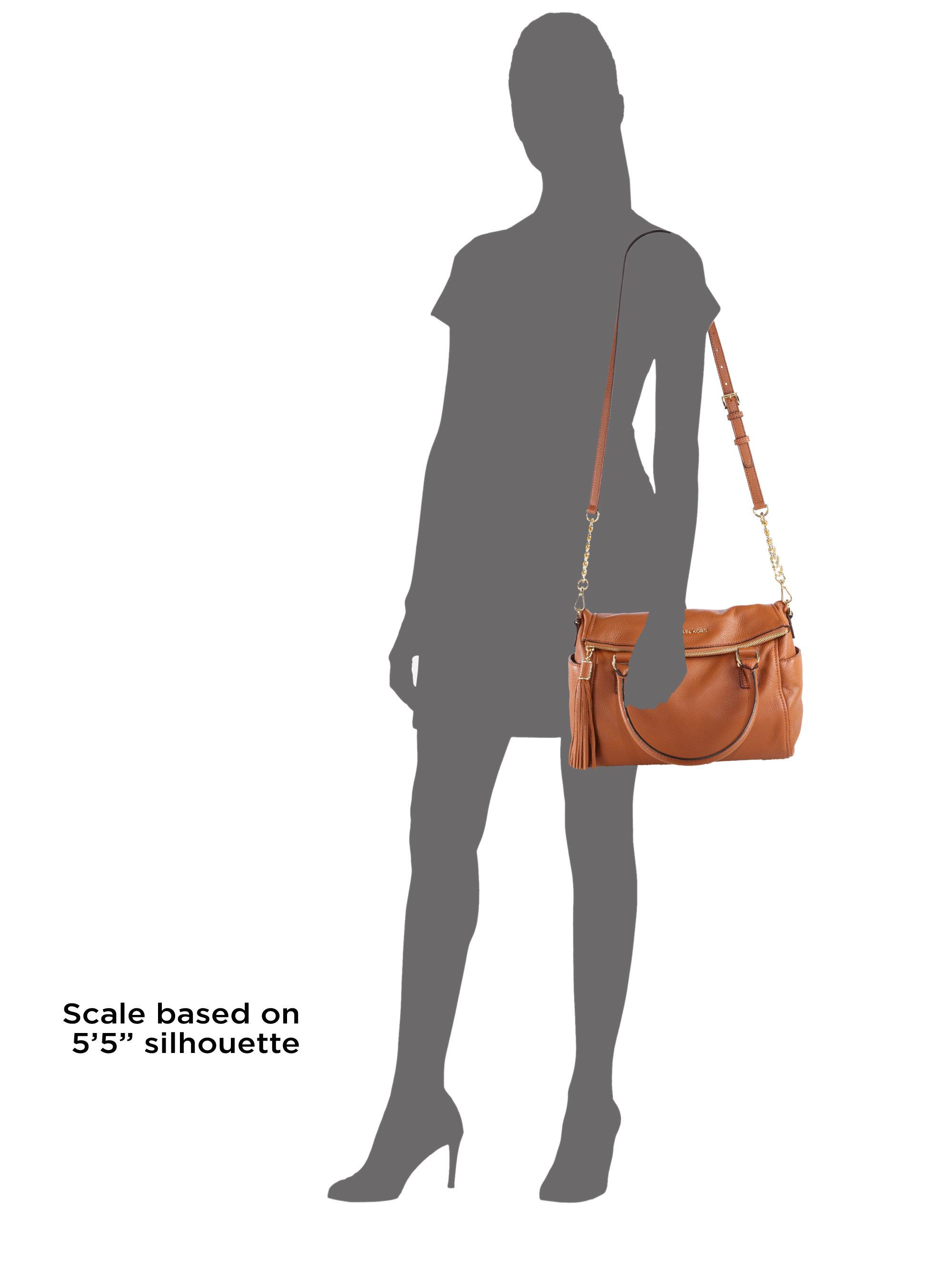 af02883422d1 ... buy lyst michael michael kors weston medium satchel in brown 69a52 89c4d