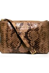 Michael by Michael Kors Bedford Gusset Snakeprint Crossbody Bag - Lyst