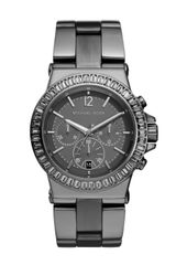 Michael Kors Midsize Gunmetal Stainless Steel Dylan Chronograph Glitz Watch - Lyst