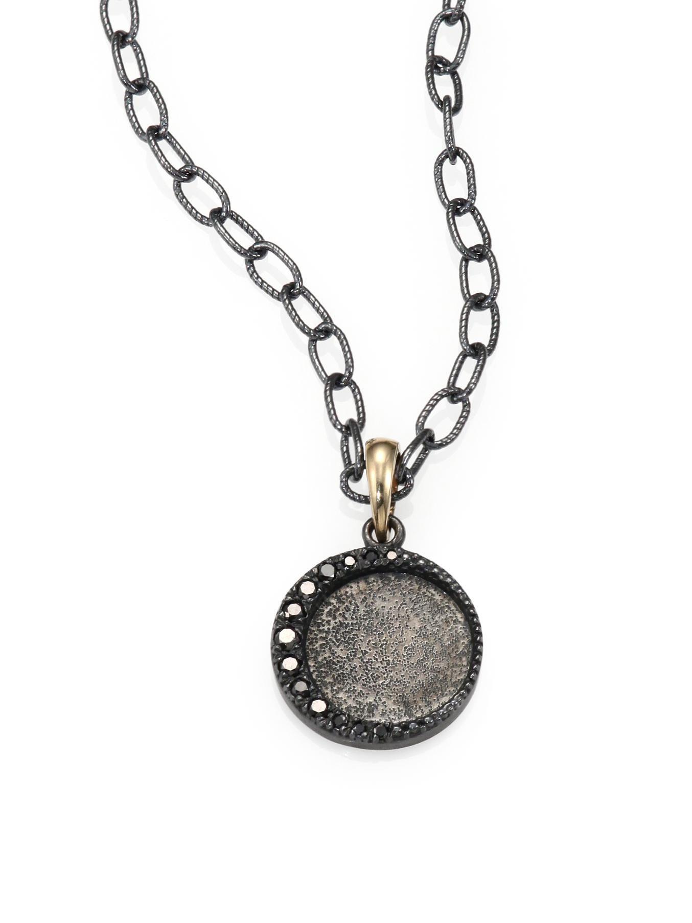 Mizuki Black Diamond Oxidized Sterling Silver And 14k Yellow Gold