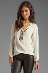 Nanette Lepore Moorish Studs and Beads Beadwork Top in Cream - Lyst