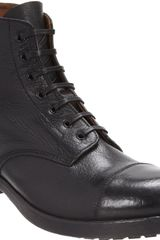 Officine Creative Cap Toe Derby Boot - Lyst