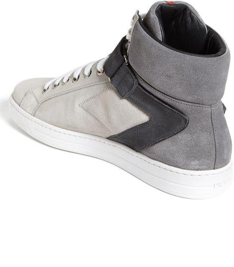 Prada Avenue High Top Sneaker In Gray For Men Grey Multi