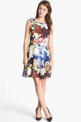 Rachel Roy Royal Flowers Silk Dress - Lyst