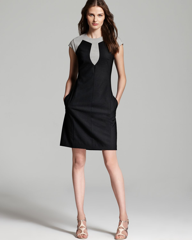 Rachel Roy Cap Sleeve Shift Dress In Black