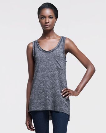 Rag & Bone Sleeveless Slub Pocket Tank Charcoal Gray - Lyst