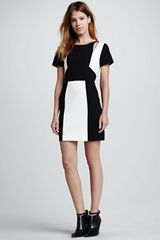 Rebecca Minkoff Crystal Colorblock Ponte Dress - Lyst