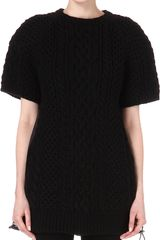 Sacai Cable Knit Dress - Lyst