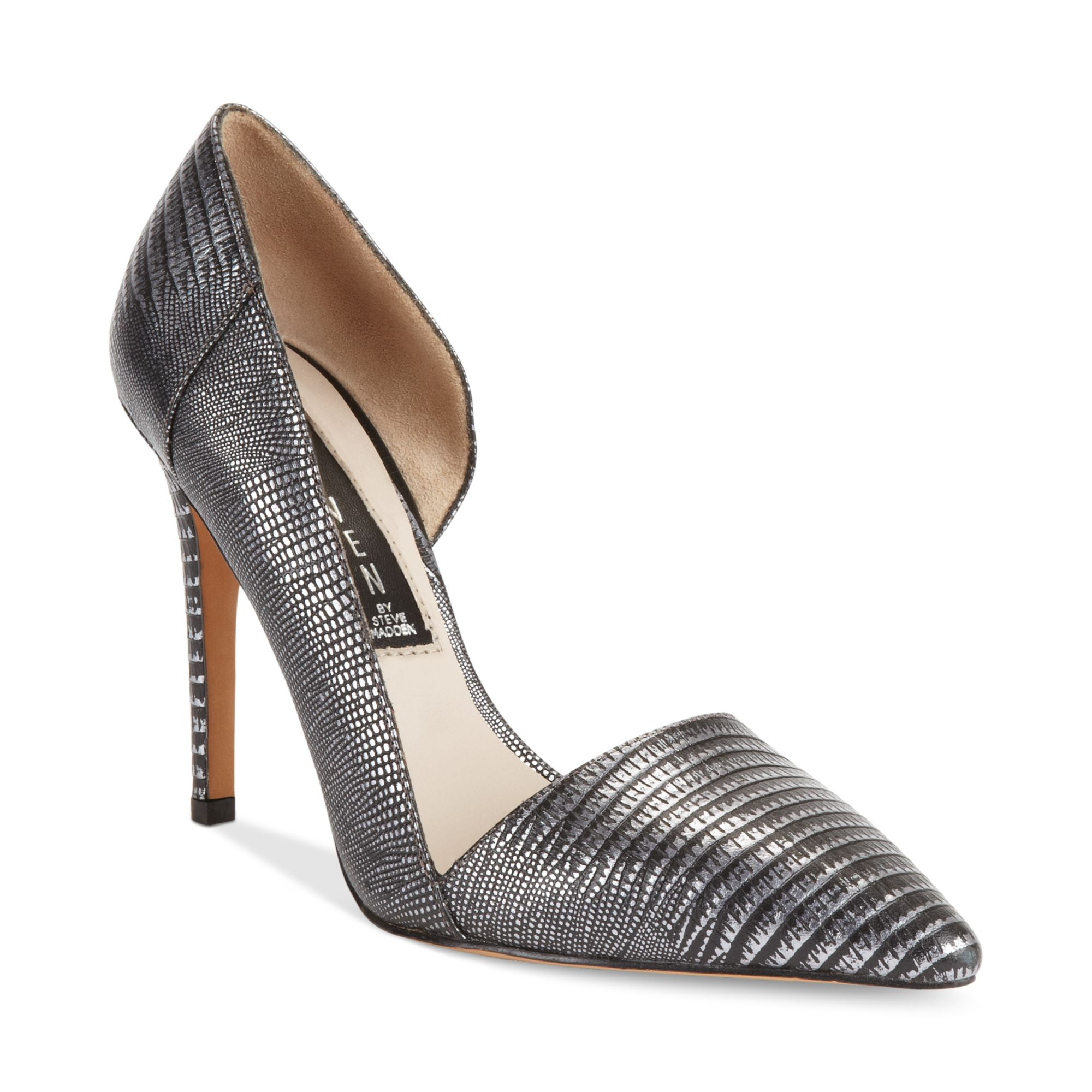 Lyst Steven By Steve Madden Walker Pumps In Metallic