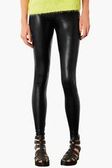Topshop High Shine Leggings - Lyst