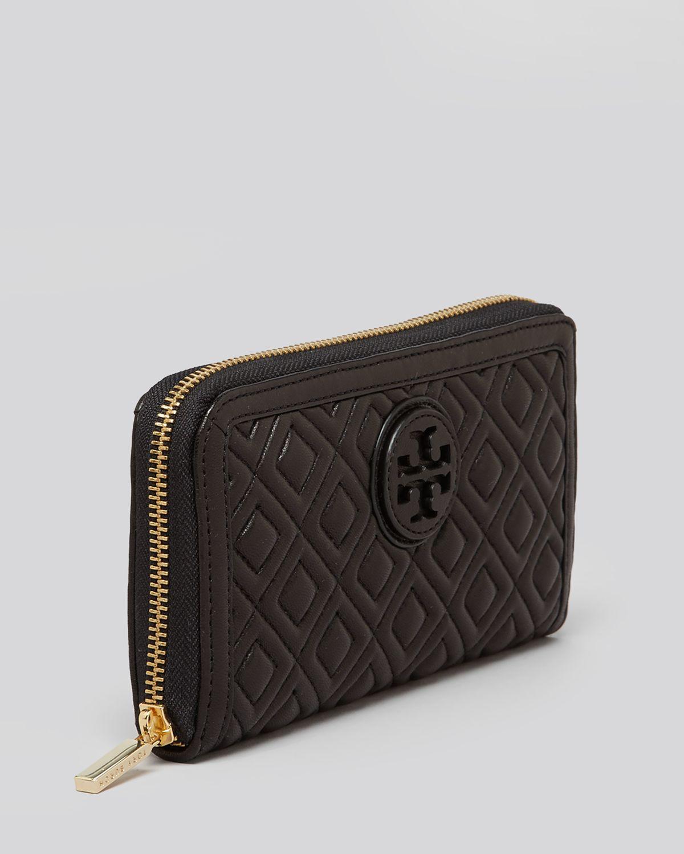9890baf1965 Tory Burch Wallet - Marion Zip Continental in Black - Lyst