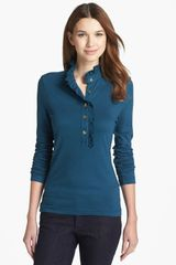 Tory Burch Lidia Long Sleeve Polo - Lyst