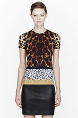 Versus  Tan and Gold Animal Print T-shirt - Lyst