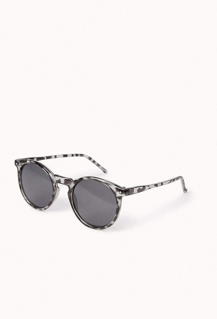 52aeed85e61 Lyst - Forever 21 Tortoise Round Frame Sunglasses in Gray for Men