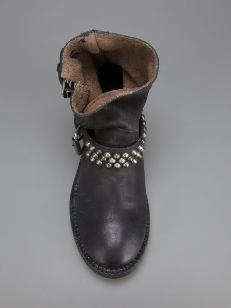Ash Vicious Studded Boot In Black Lyst