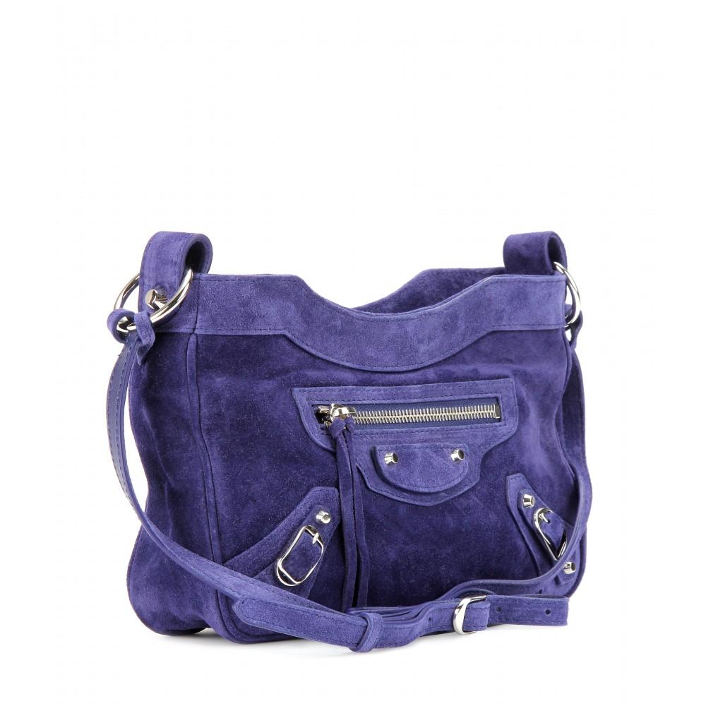 77d632d38a Balenciaga Classic Hip Shoulder Bag in Purple - Lyst