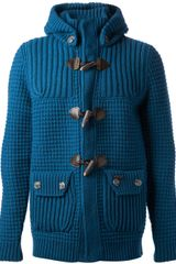 Bark Knitted Duffle Jacket - Lyst