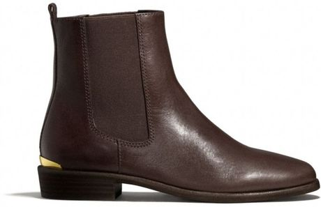 Coach Leona Boot in Brown (CHESTNUT) - Lyst