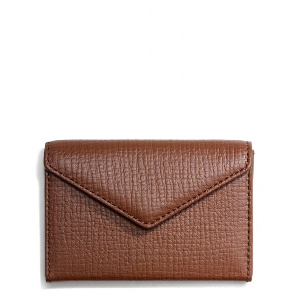 Coach crosby envelope business card case in box grain for Business card holder coach