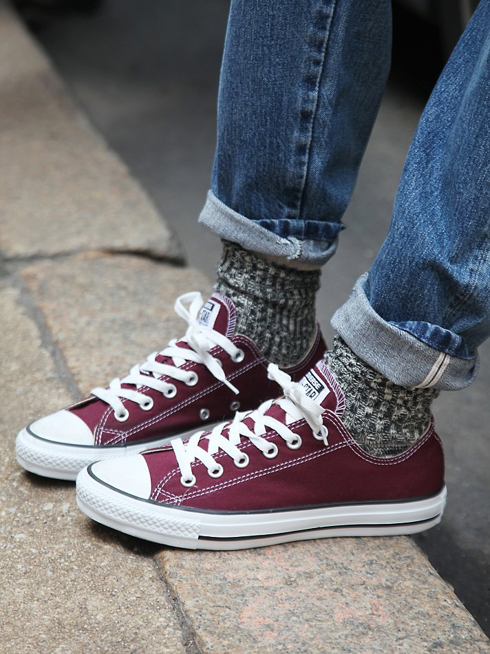 Lyst Free People Converse Womens Charlie Converse In Red