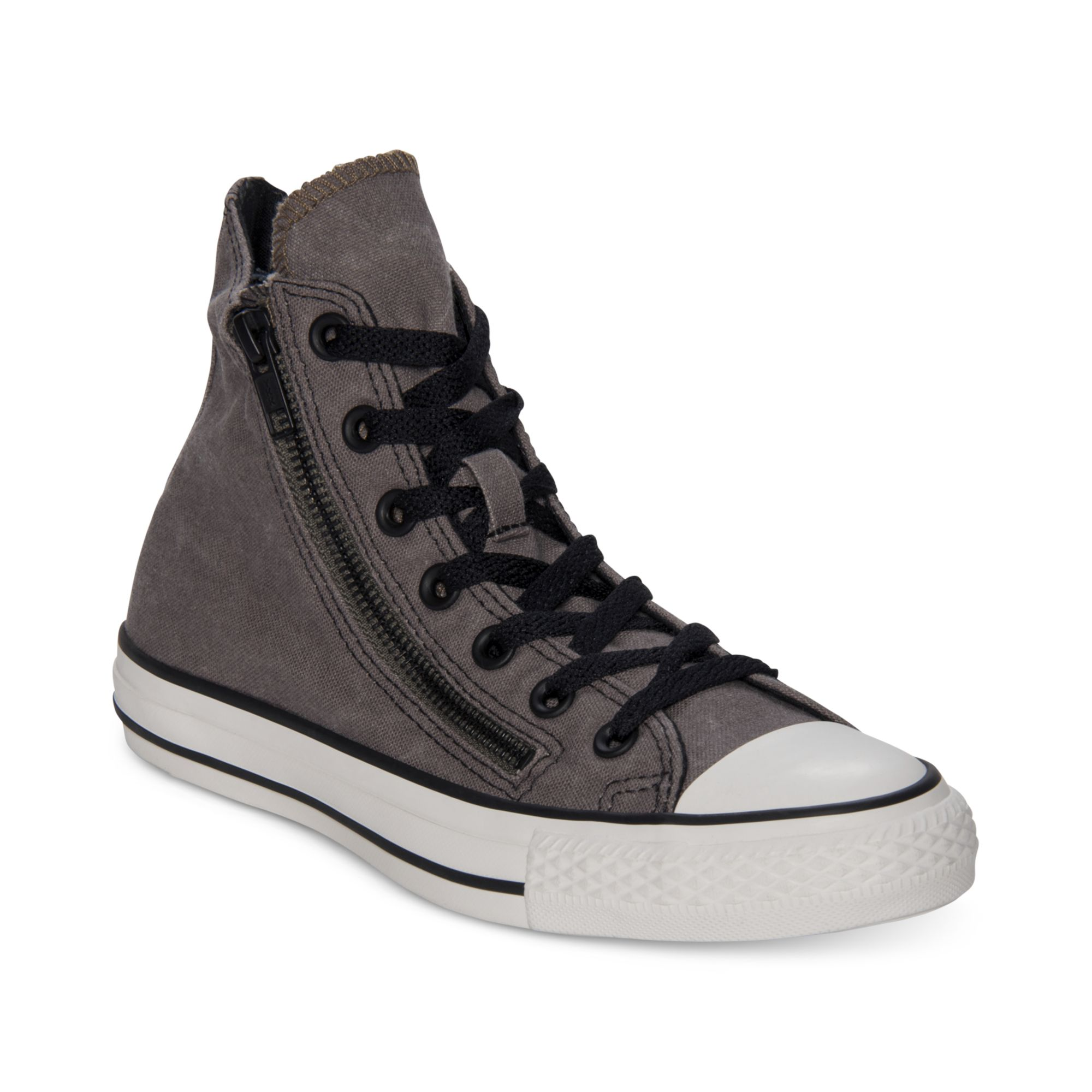 3a2a4e909bad Lyst - Converse Chuck Taylor All Star Double Zip Hi Casual Sneakers ...