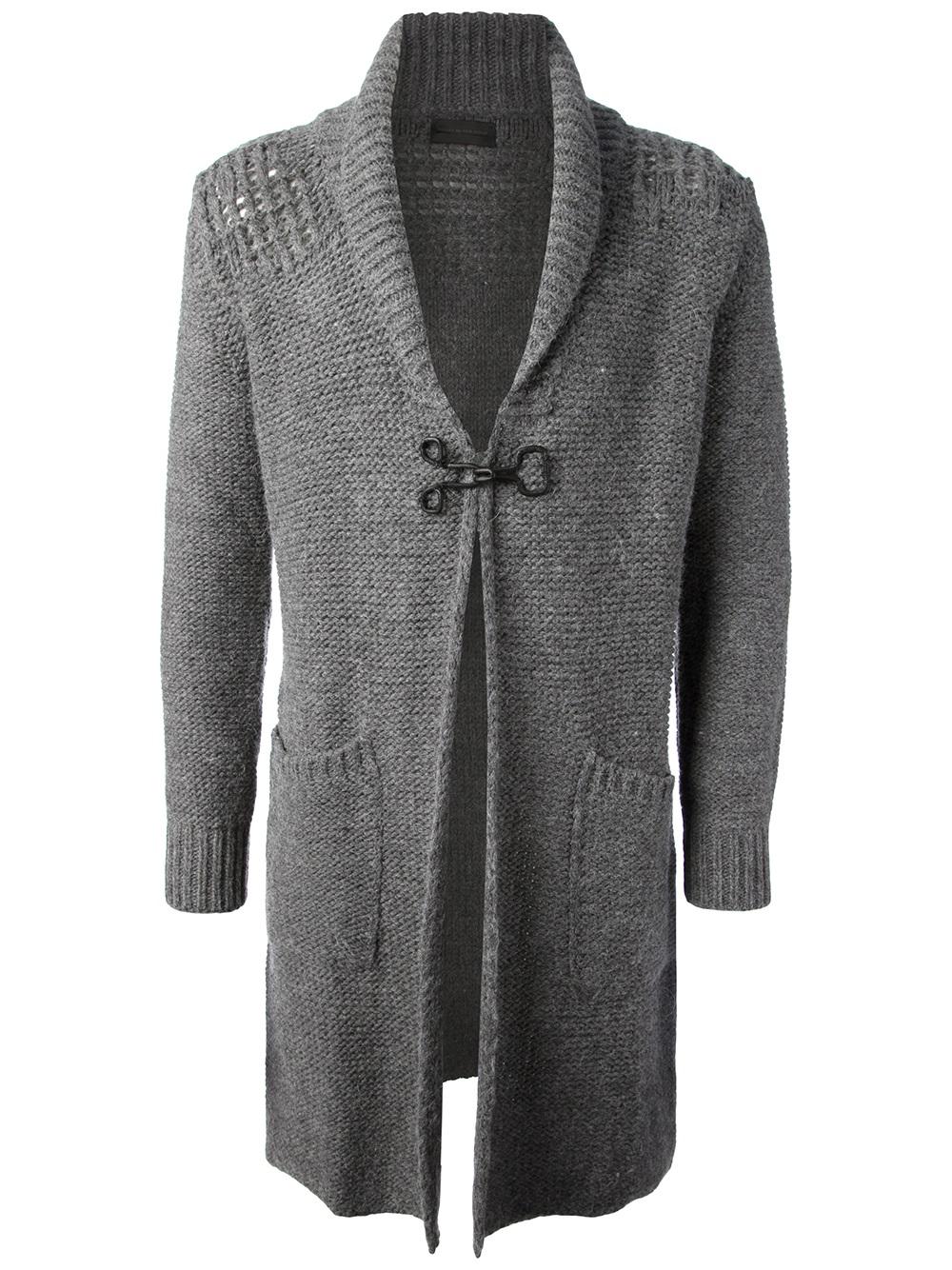Diesel black gold Kiantony Cardigan in Gray for Men | Lyst