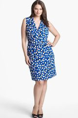 Donna Ricco Dot Print Sheath Dress - Lyst