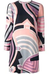 Emilio Pucci Geometric Print Dress - Lyst