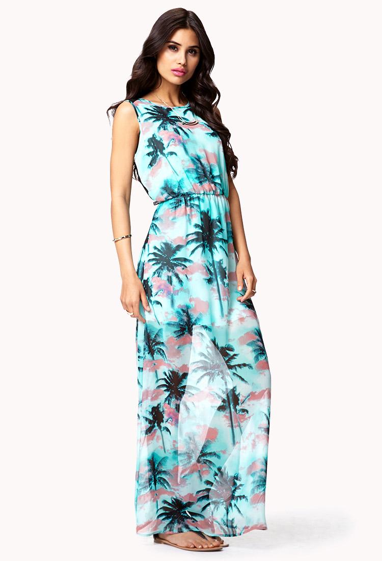 Forever 21 green maxi dress