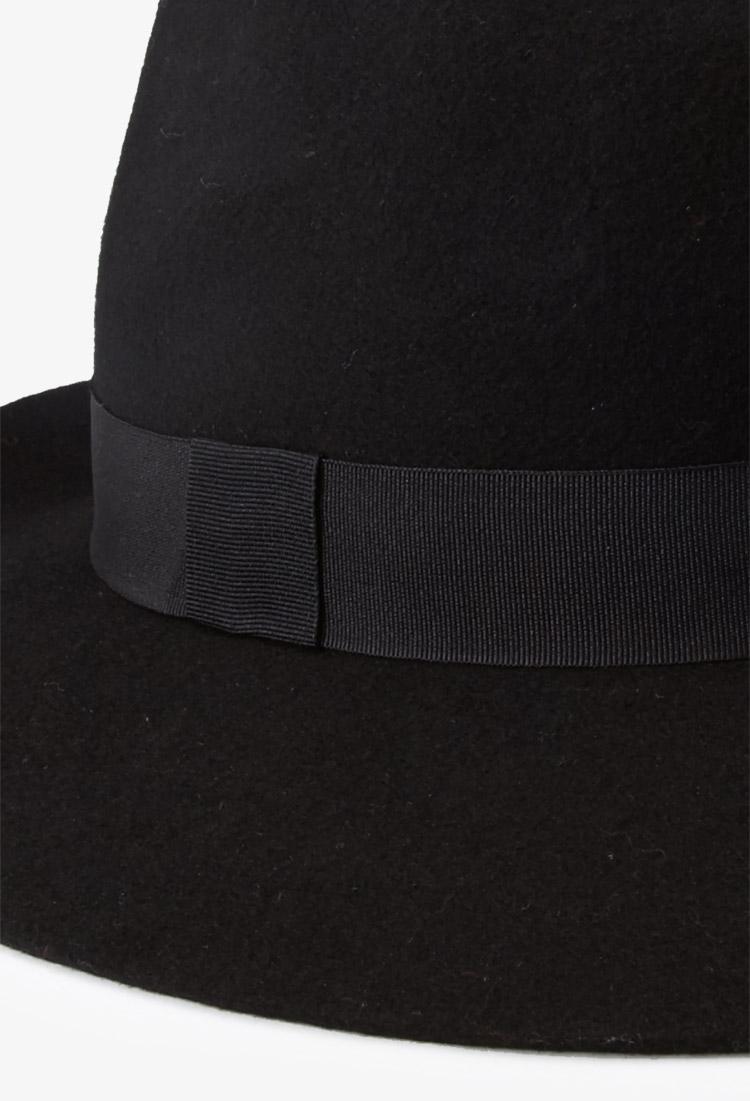Lyst - Forever 21 Sleek Wide brimmed Fedora in Black c8243fa7392