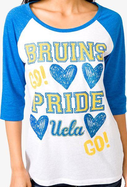 Forever 21 Ucla Bruins Pride Baseball Tee in White (blue/white)