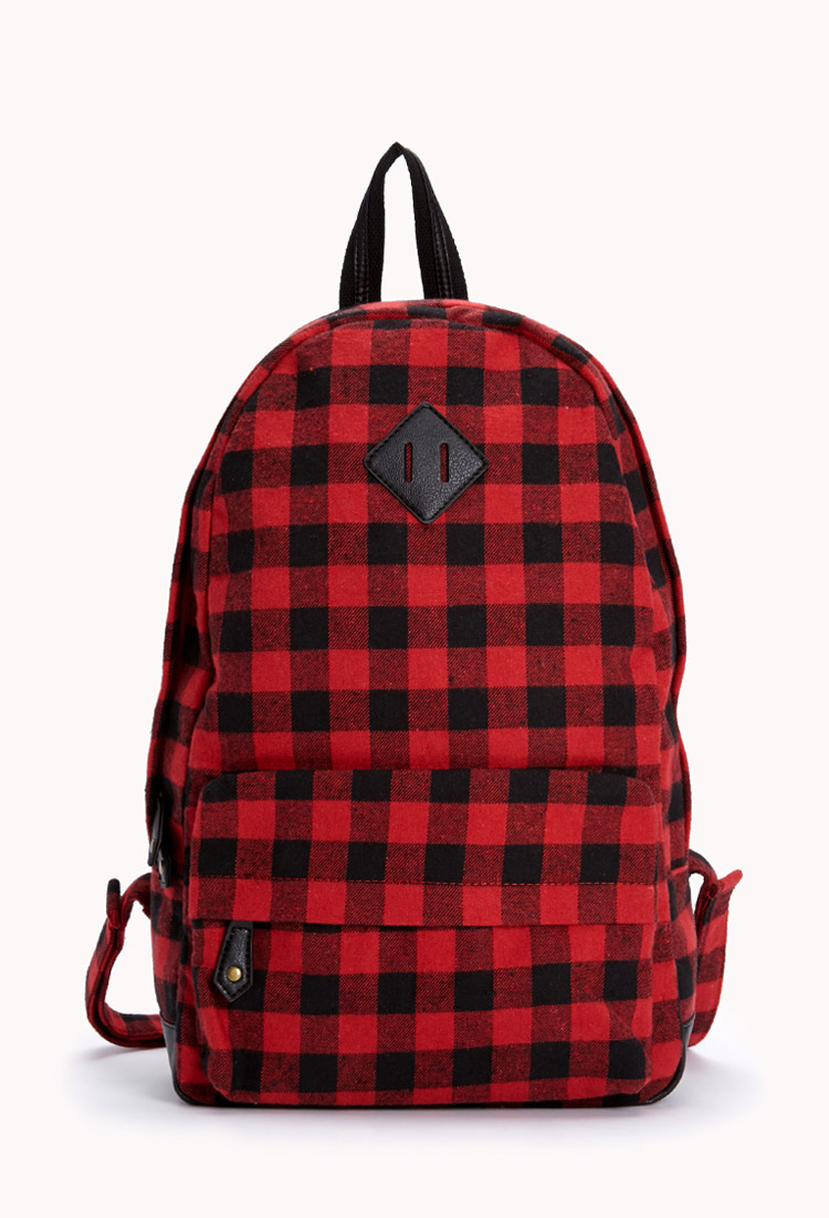Lyst Forever 21 Forever Cool Plaid Backpack In Red