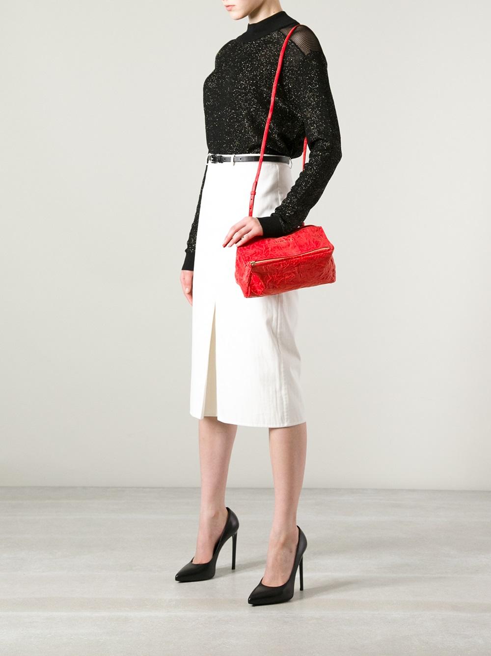Red Mini Pandora Bag Givenchy RzOrbr