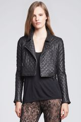 Haute Hippie Quilted Motorcycle Jacket - Lyst