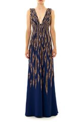 Issa Embroidered Georgette Gown - Lyst