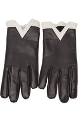 Jil Sander Navy Bicolor Gloves - Lyst