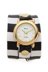 La Mer Collections Striped Wrap Watch - Lyst