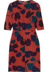 Marc By Marc Jacobs Mareika Tulip Printed Silk Jacquard Dress - Lyst
