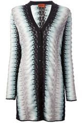 Missoni Striped Long Cardigan - Lyst