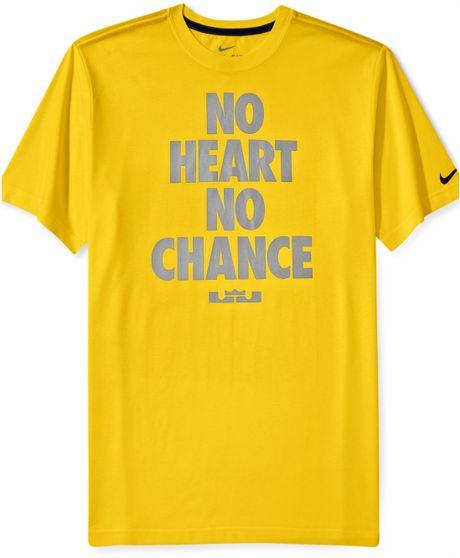 Nike lebron no heart no chance shortsleeve drifit tshirt for Lebron shirts for sale