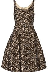 Oscar de la Renta Appliquéd Lace and Orylag Blend Dress - Lyst