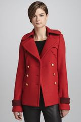 Smythe Womens Doublebreasted Pea Coat - Lyst
